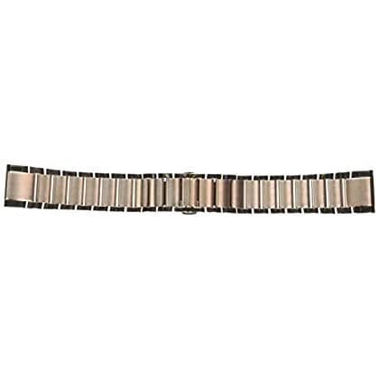 Image of Arm & Wristbands Garmin 010-12739-02 Quickfit 20 Watch Band - Rose Gold-Tone Stainless Steel - Accessory Band for Fenix 5S Plus/Fenix 5S