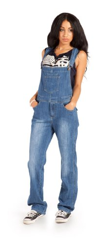 Damen-Latzhose, Light Wash Overalls für damen denim jean mode WOM89