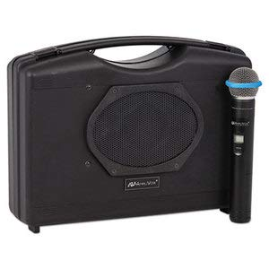 - AmpliVox Bluetooth Audio Portable Buddy with Wireless Handheld Mic, 50W, Black