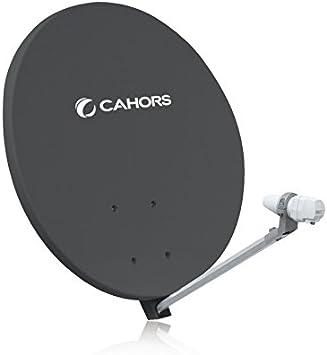 CAHORS Parabólica SMC FIBRA 70 CM HD Gris Antena SMC ...