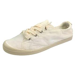 Forever Link Women's Classic Slip-On Comfort Fashion Sneaker, White, 5.5