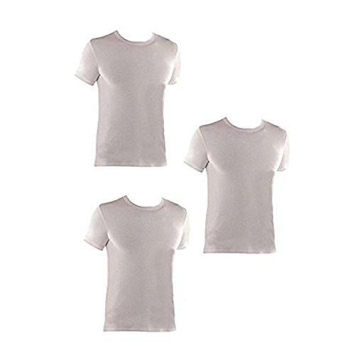 Interlock 3 Bianco Et1200 Girocollo Uomo Caldo T Mezza shirt Coveri Art Enrico Cotone Manica 8Hqn8Or6