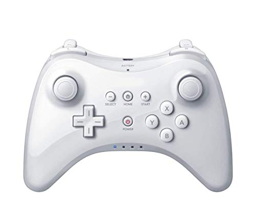 Pro Controller for Wii U, PowerLead Wireless Controller Gamepad for Nintendo Wii U Bluetooth Dual Analog Game Controller Joystick Gamepad (White)