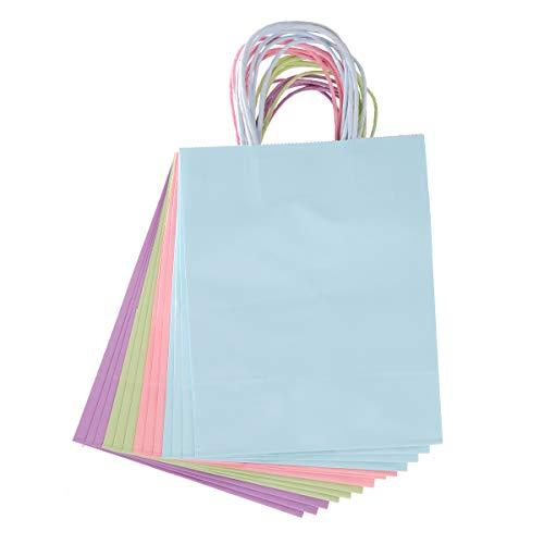Darice 30071299 Medium Gift Bag: Pastel, 8 x 10 inches, 13 Pieces, Assorted