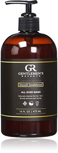 Gentlemen s Reserve All Over Wash Smooth Sandalwood Scent Body Wash Face Wash Shampoo 16 oz