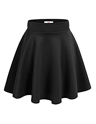 NYL Womens A-Line Flared Skater Skirt Reg & Plus Size - Made in USA