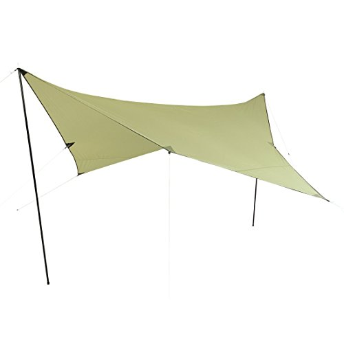 10T Beechnut Tarp 3x3 UV-50+ - Sun awning, 300x300 cm with erection poles and pegs, 2000 mm
