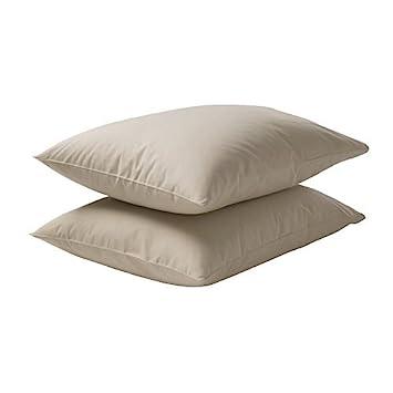 Ikea Dvala Taie D Oreiller Beige 2 Pièces 50x80 Cm Amazon Fr