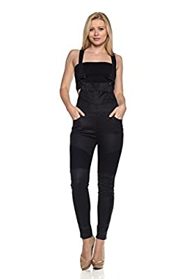 Calilogo Women's Classic And Distressed Skinny Jumpsuit Overalls