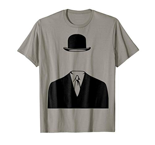 Man In a Bowler Hat by Rene Magritte Inspired Design