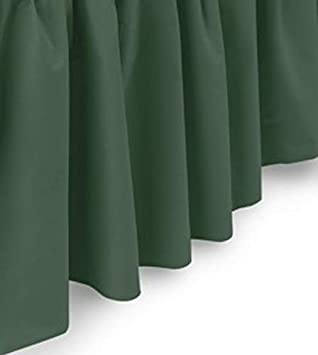 White 14 Inch Drop Bedskirt Ruffled Bed Skirt with Split Corners Twin XL - Blissford Dust Ruffle Available in and 16 Colors