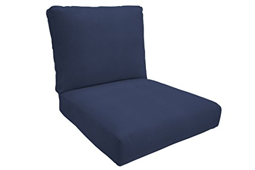 Eddie Bauer Home Deep Seating Lounge Double Piped, Medium, Canvas Navy by Eddie Bauer