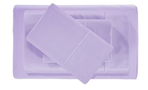CHATEAU HOME COLLECTION Hotel Collection! Luxury Sheets on Amazon in Bedding! - Blockbuster Sale: Todays Special - Luxury 1000 Thread count 100% Egyptian Cotton Sheet Set, Queen- Lilac