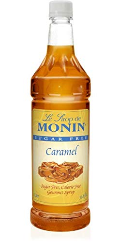 Amazon Com Monin Sugar Free Caramel Syrup Sweet And Buttery Caramel Flavor Great For Lattes Cappuccinos Unique Cocktails Vegan Non Gmo Gluten Free 1 Liter Dessert Toppings Grocery Gourmet Food