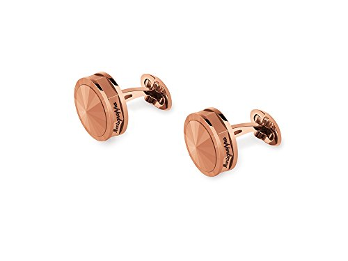 Montegrappa Lifestyle Collection Nero Uno Rose Cufflinks with Matching Metal Inlay Accessory - IDNRCLIS