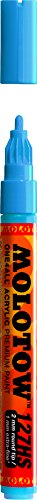 Molotow ONE4ALL Acrylic Paint Marker, 2mm, Shock Blue Middle, 1 Each (127.205)