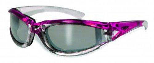 Global Vision Eyewear FlashPoint Sunglasses, Flash Mirror Crystal Reflection Lens, Pink - Sunglasses Chrome Mirror