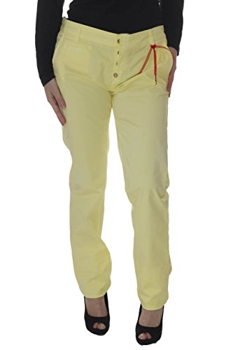 Daniele Alessandrini Womens Skinny Pants 30 Yellow from ENET