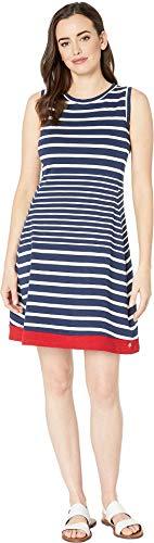 Hatley Women's Sarah Dress Solstice Stripes Blue X-Large - Hatley Blue Stripes