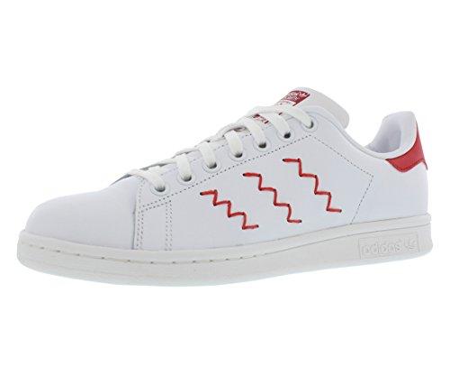 adidas Originals Frauen Stan Smith W Fashion Sneaker Weiß Rot