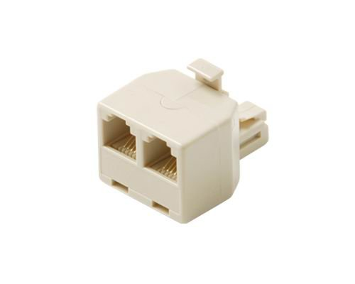 Black Point Products BT-069 2-Line T Adapter, Ivory (Telephone Point)