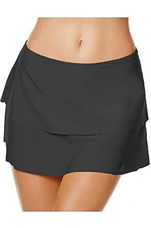 Labelar Women Swim Skirt Tummy Control A-Line Skirted