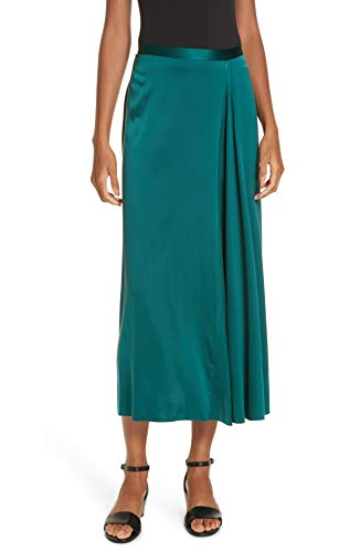 Eileen Fisher Womens Skirt A-Line Silk Godet Pleated Green 6 from Eileen Fisher