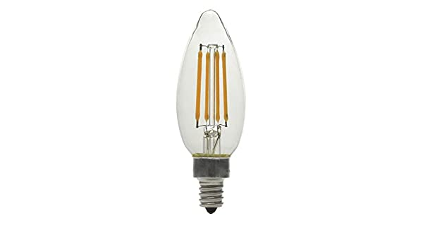 GE 6 Pack LED Dimmable 60W Equivalent 4.5W Candelabra Base Light Bulbs