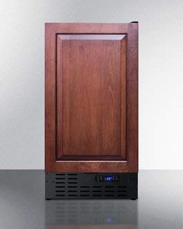 Summit Appliance FF1843BIFADA 18 in. Freestanding or Built in Counter Depth Compact Refrigerator44; Black (Custom Panel Accepts Overlay)