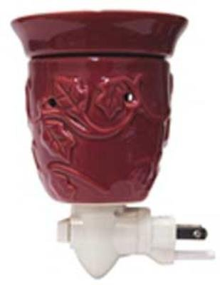 A Cheerful Giver Ceramic Plug-in Wax Melter, Burgundy ()