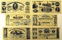 Confederate Currency Set A, B, C, & D