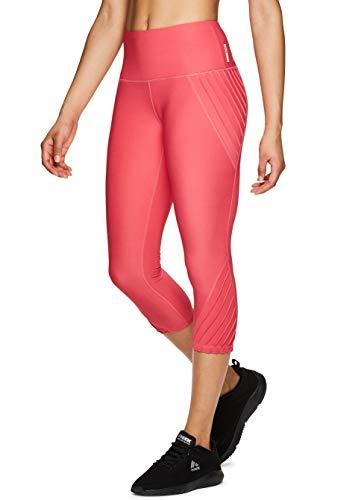 RBX Active Women's Pintuck Fashion Workout Yoga Capri Leggings S19 Coral M