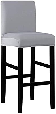 timeless design 19b60 f6488 Seiyue Bar Stools Kitchen Furniture Breakfast Bar High Seat Chair Stool  Cover (Only Cover,No Chair) (Gray)