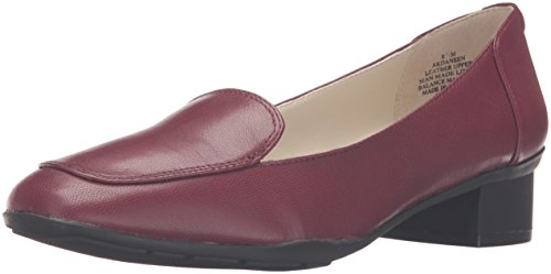 Anne Klein Mujeres Daneen Leather Slip-on Loafer Wine