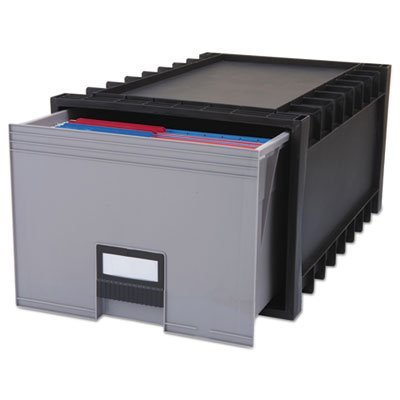 Archive Storage Box for Letter Size Hanging Files, 24'''' Depth, Gray, Sold as 1 Each by Storex