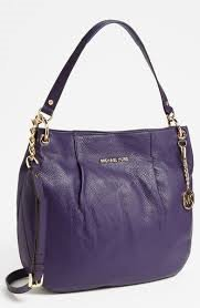 Image Unavailable. Image not available for. Color  Michael Kors Bedford  Large Convertible Shoulder Bag Iris Purple Leather 30T3GBFL3L 76d0edc8fa090