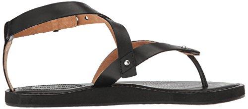 Corso Como Kvinna Spa Flat Sandal Svart Borstad Läder