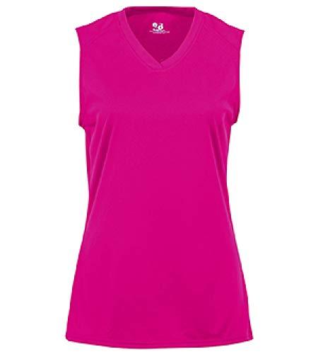 Badger BD4163 B-Core Ladies Sleeveless Tee - Hot Pink, Large (Sportswear Ladies Sleeveless)