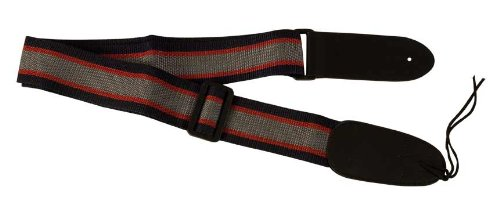AXL PG-571-GBL Nylon Guitar Strap, Blue/Red/Grey