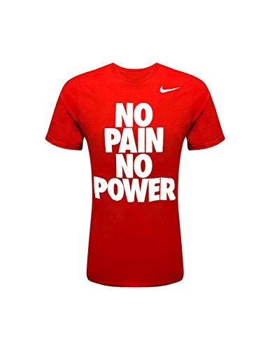 NIKE Mens Runs This Graphic T-Shirt (Gains Red-White, XL)