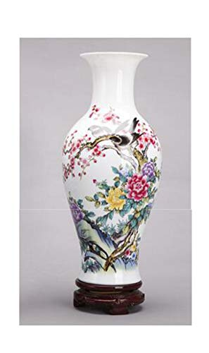 (Chinese Style Classical Porcelain Flower Vase Home Decoration Handmade High Clay Ceramic Vases)