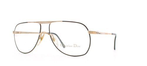 Christian Dior 2553 42 Gold and Black Authentic Men - Women Vintage Eyeglasses - Dior 2014 Frames Glasses