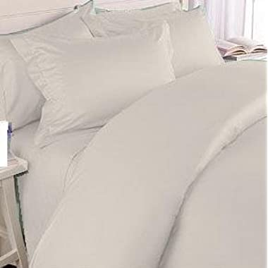 Organic Cotton 340 Thread Count Ivory King Duvet Cover