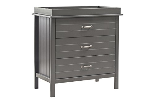 DaVinci Asher 3-Drawer Changer Dresser with Removable Changing Tray, Slate by DaVinci
