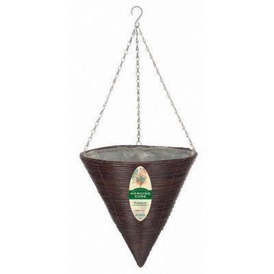 Gardman R337 Brown Rattan Hanging Cone Basket, 14
