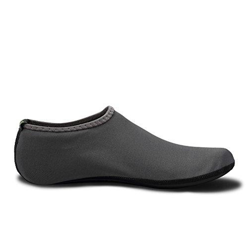 CIOR 3. Verbesserte Version Durable Sohle Barfuß Wasser Haut Schuhe Aqua Socken für Beach Pool Sand Schwimmen Surf Yoga Wassergymnastik 03grau