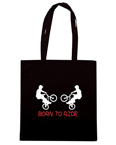 BORN RIDE TO Borsa Nera Shopper TR0023 xXBAYw