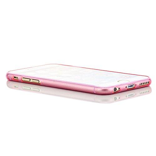 Saxonia Apple iPhone 6 6S Soft Flex Silikon Ultra Slim Case Handyhülle, Kratzfeste Durchsichtige TPU Schutzhülle Cover Rosa