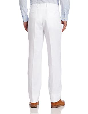 Calvin Klein Men's White Linen Slim-Fit Suit