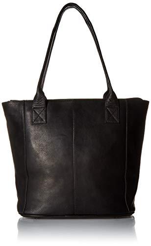 (Piel Leather Small Tote Bag, Black)